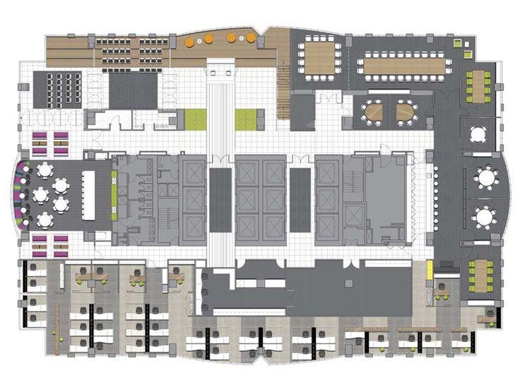 Floor plan of office layout t m v i google plan office for Oficinas minimalistas