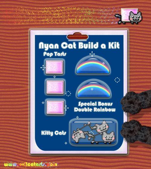 Nyan Cat Build A Kit :)  Dr Evil Jr likes building Pop Tart Cats :)