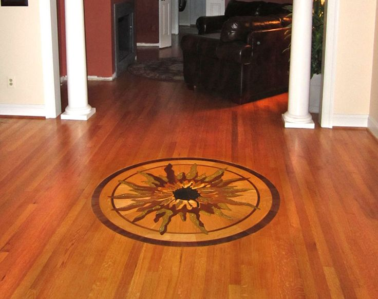 23 best wood flooring medallions inlays designs images for Wood floor medallion designs