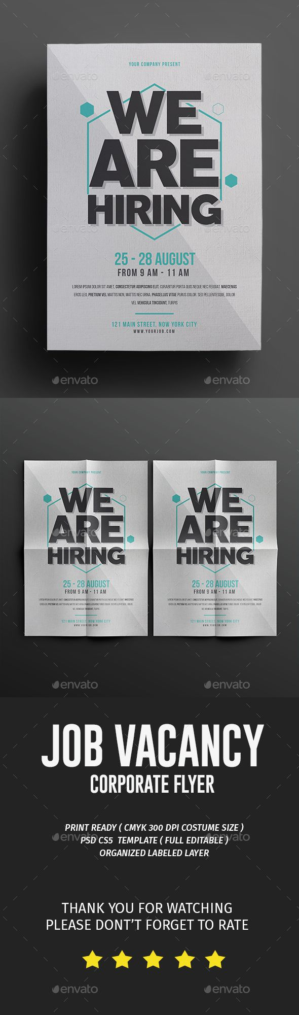 Job Fair PSD Flyer  Template • Only available here ➝ http://graphicriver.net/item/job-fair-flyer/16682923?ref=pxcr