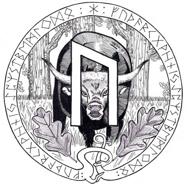 Uruz - art by Miky from his Book of Shadows