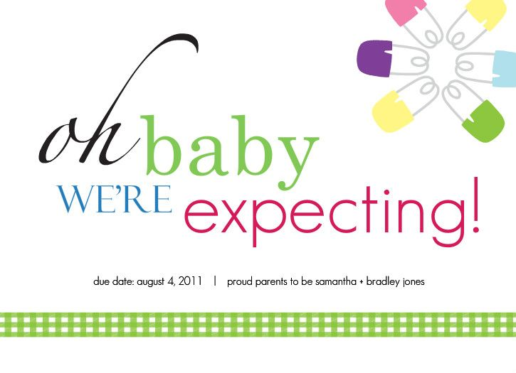 baby announcement free template