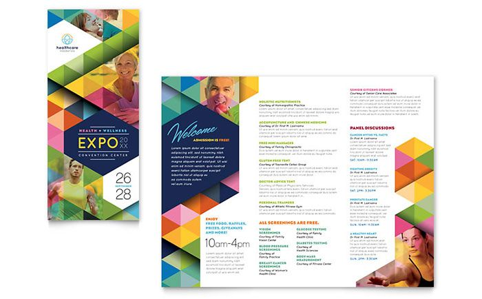 Health Fair Tri Fold Brochure Template Design by StockLayouts - sample college brochure