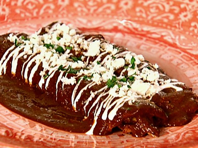 'Easiest Ever' Chicken Mole Enchiladas from FoodNetwork.com
