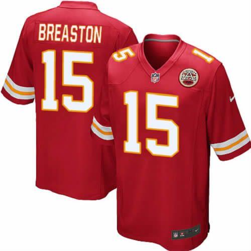 Steve Breaston Jersey Kansas City Chiefs #15 Youth Red Limited Jersey Nike NFL Jersey Sale