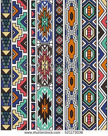 140b203e9b295 retro colors tribal vector seamless ndebele pattern. aztec abstract  geometric art print. ethnic navajo vector background. Wallpaper, cloth  design, fabric, ...