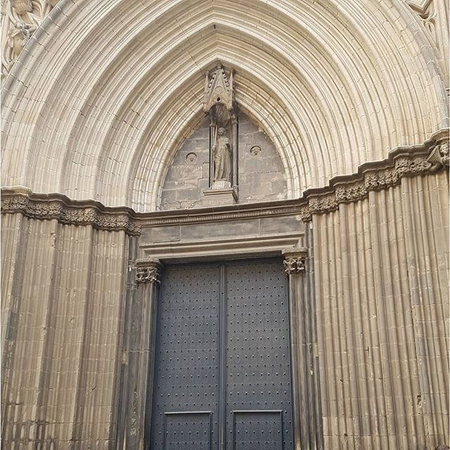 Inspiration can come from anywhere.  These church doors in Barcelona, Spain are the reason for our obsession with black interior doors at home. #interiordesign