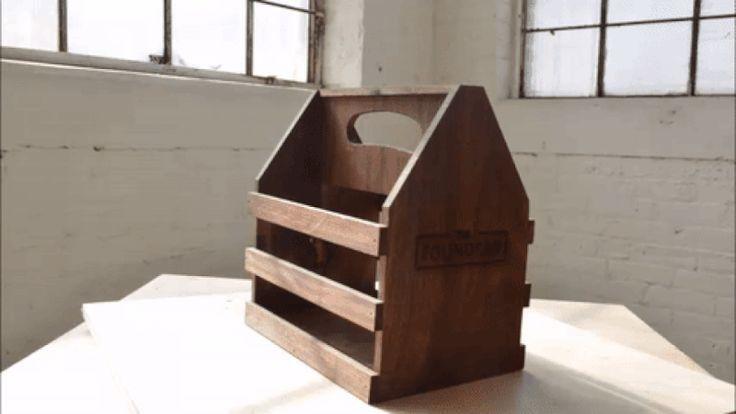 this diy wood beer carrier even has a bottle opener on the side beverage. Black Bedroom Furniture Sets. Home Design Ideas