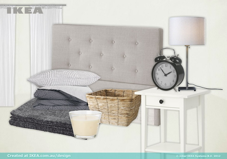 bedroom thoughts, created with IKEA Australia's new moodboard tool.