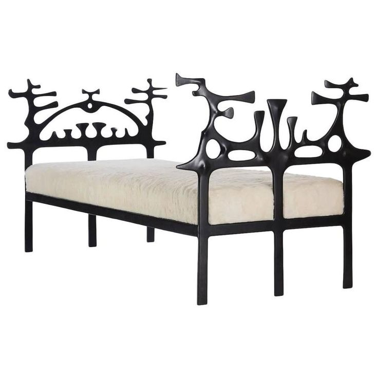 Surrealist Bronze Daybed by Victor Roman | From a unique collection of antique and modern daybeds at https://www.1stdibs.com/furniture/seating/day-beds/