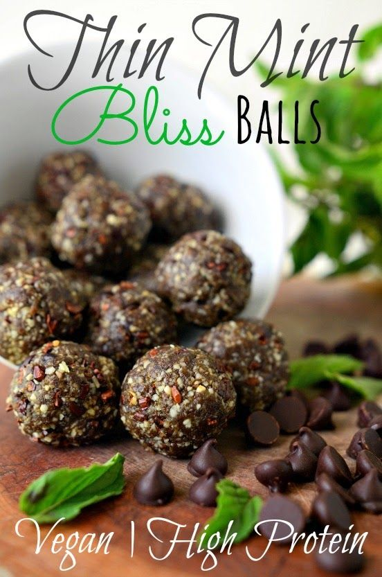 Housevegan.com: Thin Mint Bliss Balls - Vegan and High Protein