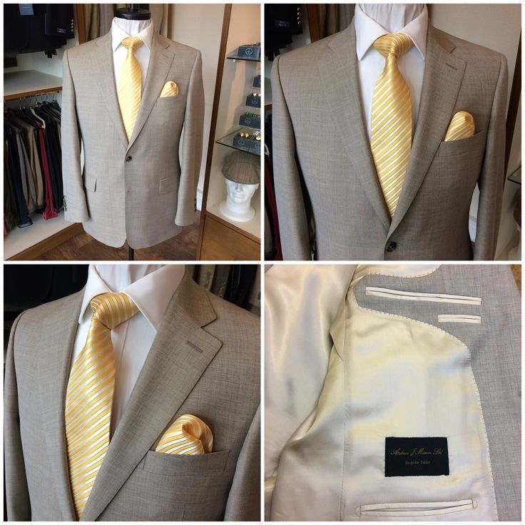 Monte-Carlo here we come! Clients Lt weight beige super 130's all wool 2-piece Monte-Carlo suit ready for final fitting this afternoon.