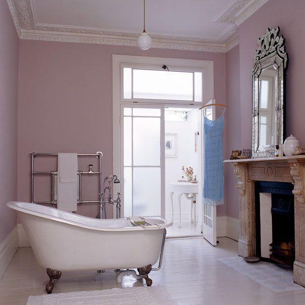 Bath + fireplace + venetian mirror. Gorgeous | Bathroom spa ...