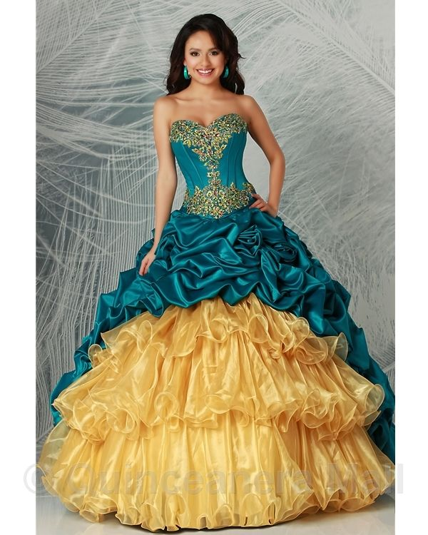 17 Best Images About Gold Quinceanera Dresses On Pinterest
