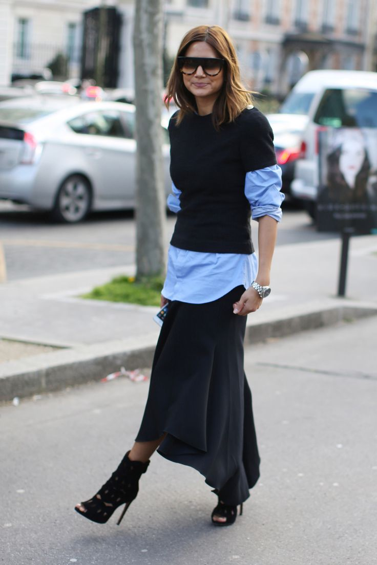 FLARE Paris Fashion Week AW'14 Street Style / Photo by Anthea Simms