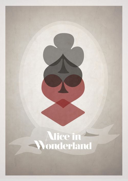 re-imagined Disney animated movie poster art: Alice In Wonderland