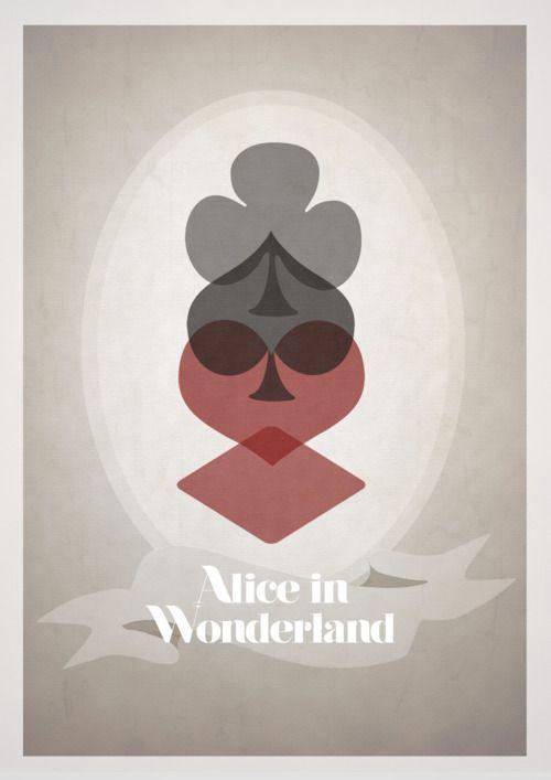 Alice in Wonderland (Clássicos da Disney em cartazes minimalistas - Designerd)
