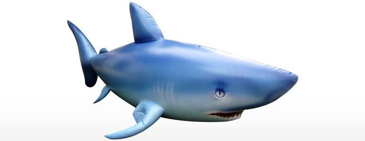 Giant 7' Inflatable Shark - I want to hang this from the ceiling in Jonas room