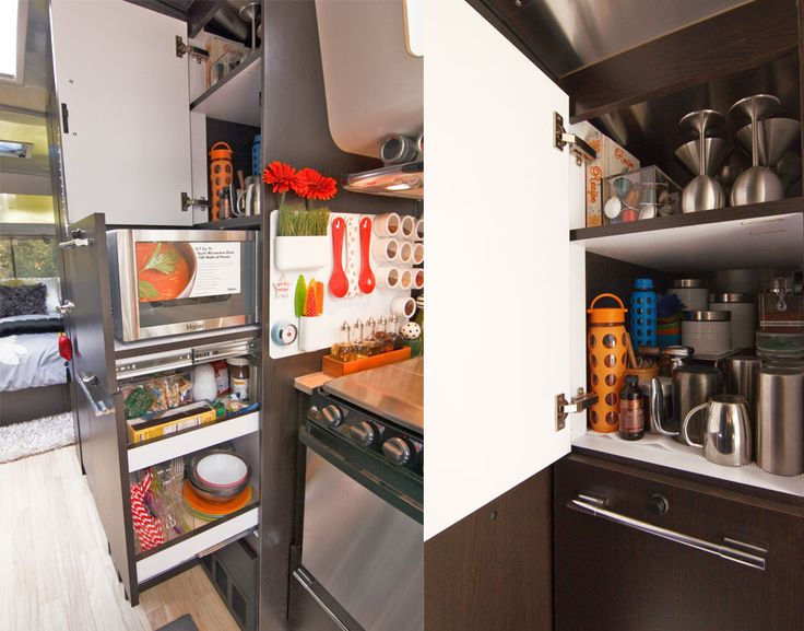 Airstream kitchen organization awesomeness trailer for Airstream decor