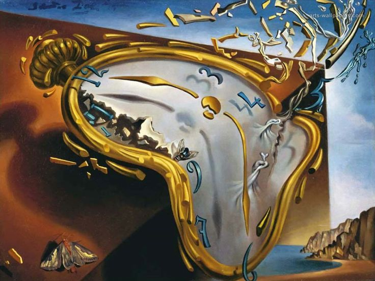 Soft Watch at the Moment of First Explosion - Salvador Dali