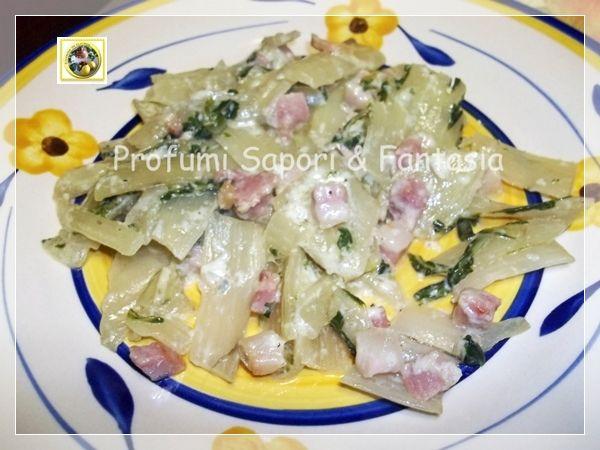 Coste di bieta ricetta, saltate con pancetta e gorgonzola