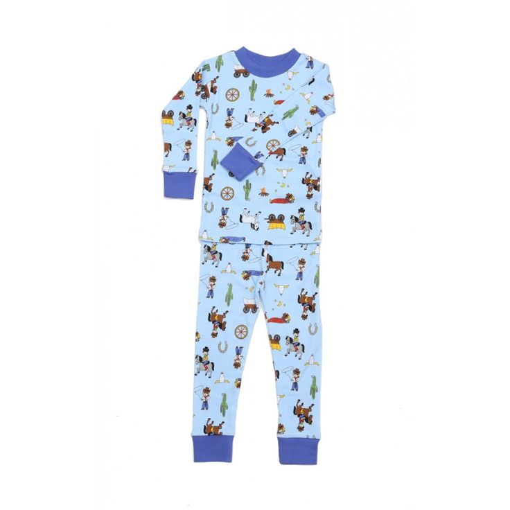 New Jammies Organic Cotton Ranching Cowboys Jammies- Multiple Sizes