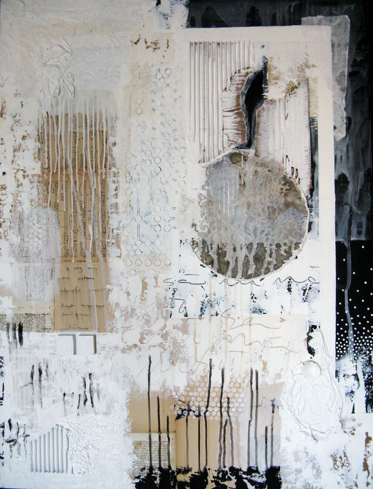mixed media painting From Memory by Anca Gray