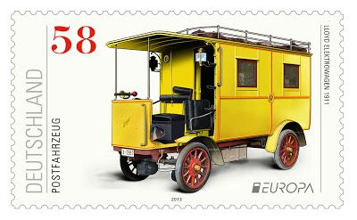 """europa stamps: Germany 2013 -Europa 2013 """"The postman van"""" celebrating PostEuropa's 20th anniversary - 1993-2013"""