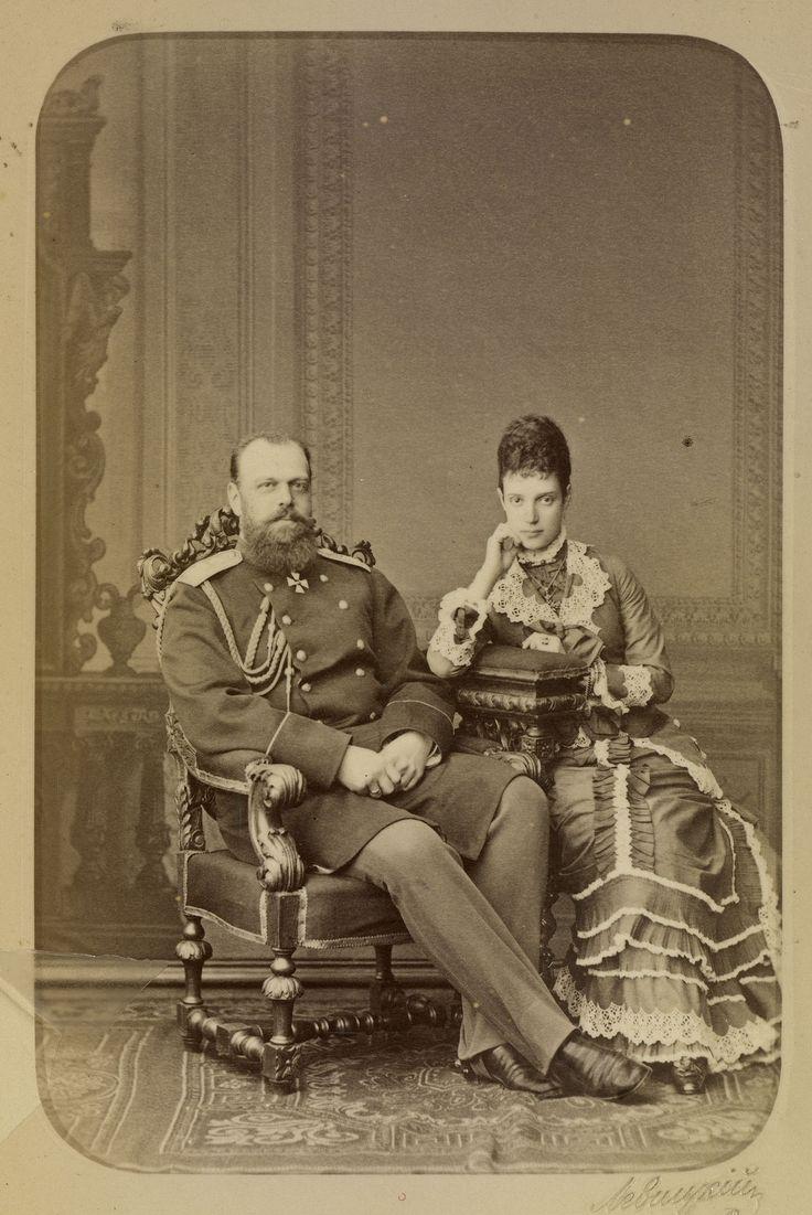 Tsar & Tsarina Alenander III  1845 - 1894 & Maria Feodorova 1847 - 1928 circa 1878.
