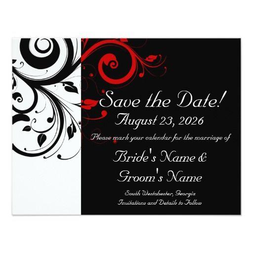 224 best Black Red Wedding Invitations images – Wedding Invitations Red Black and White