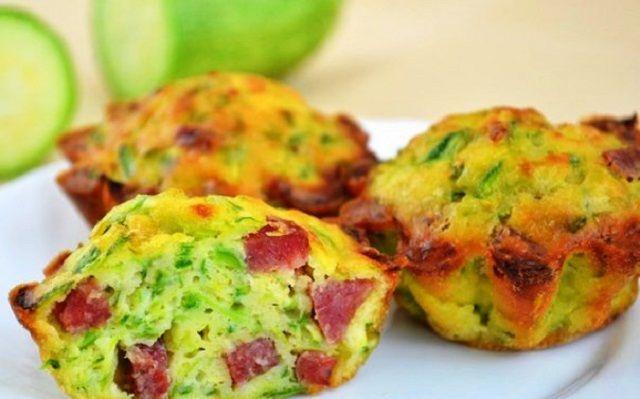 Pumpkin muffins with Sausage