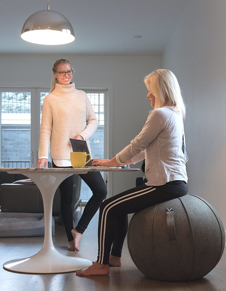 Vivora Luno - Self-Standing Sitting Ball Chair for Home, Office, Yoga, Stability and Fitness