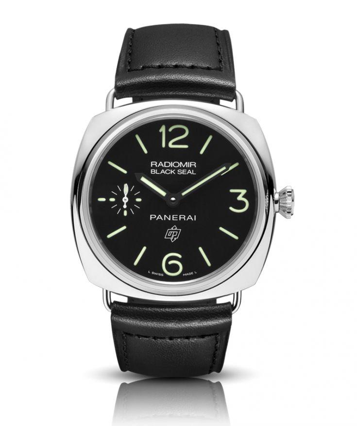 Officine Panerai PAM00380 Radiomir Black Seal Logo Acciaio - 45 mm - швейцарские часы, наручные, мужские, черные