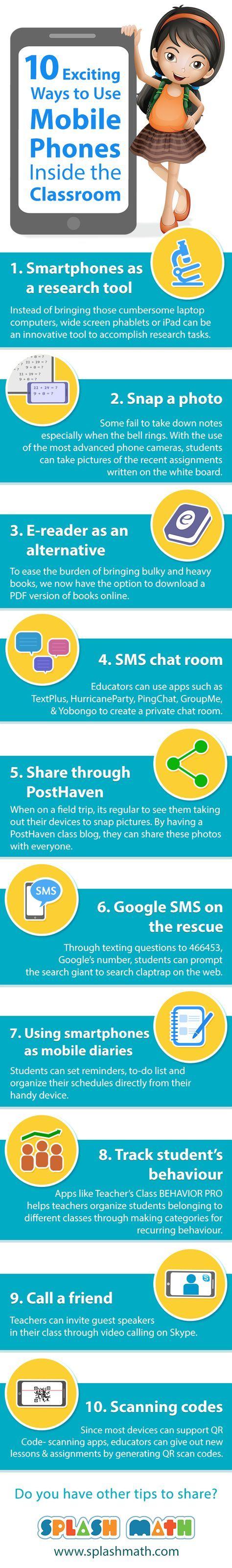 Tien manieren om mobiele telefoons in het klaslokaal te gebruiken