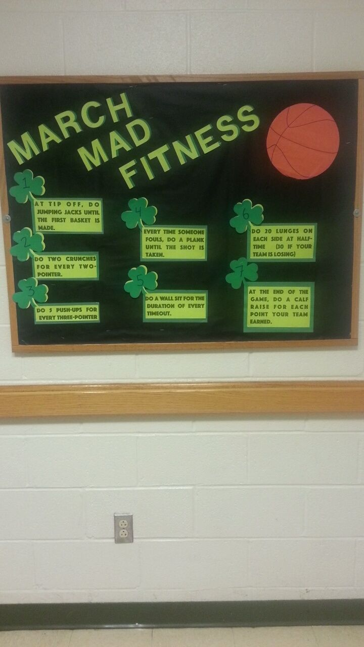 Go green vegetable bulletin board idea myclassroomideas com - March Madness Theme Bulletin Board For Physical Health