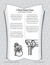 A Real Santa Claus Poetry Pack | Printable Cloze Activity for Grades 2-5