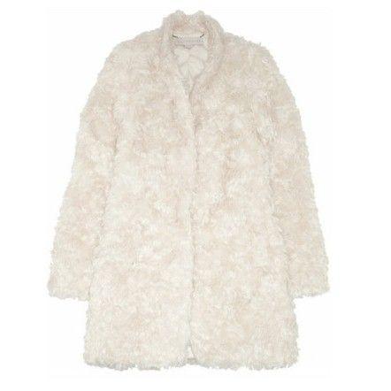 Mohair blend faux fur coat,