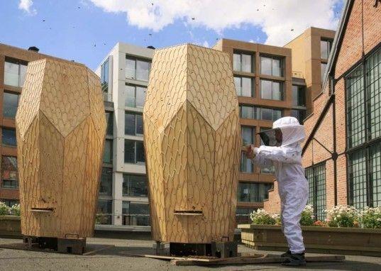 green design, eco design, sustainable design, Snohetta, urban beekeeping, Vulkan Beehives, The Vulkan Project Oslo