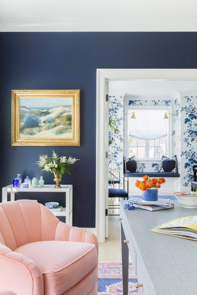 Spotlight On A Pink White Blue Home By Caitlin Wilson