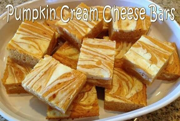 Pumpkin cheese cake bars | Food | Pinterest