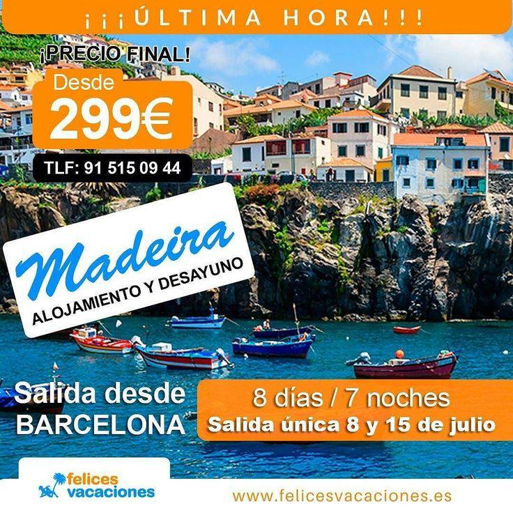 Ofertón de #ÚltimaHora a #Madeira  desde 299 (PRECIO FINAL) - 8 días y 7 noches  Aprovecha estos precios de escándalo! Salida desde Barcelona . #Chollo #Oferta #España #Portugal #Isla #OfertadeViaje #TodoIncluido #Atlántico #Playa #Viaje #barato #selfie #descanso #granoferta #AgenciaDeViajes #Madrid #Ibiza #Barcelona #Naturaleza #Sevilla #Segovia #Badajoz #Valencia #Cataluña #IslasMágicas #Felicidad #Vacaciones #FelicesVacaciones