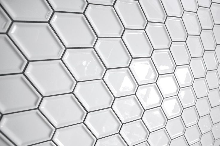This stylish tile appeared on The Block Fans vs. Faves. The Nova Hex Bevelled tile from Beaumont Tiles featured in the Main Bathroom. #TheBlock