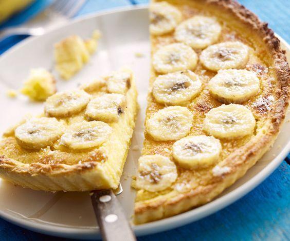 Le dessert du jour : la tarte aux bananes et à la crème !