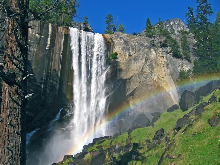 vernal falls yosemite national park - Google Search   ART ...   Yosemite Vernal Falls Rainbow