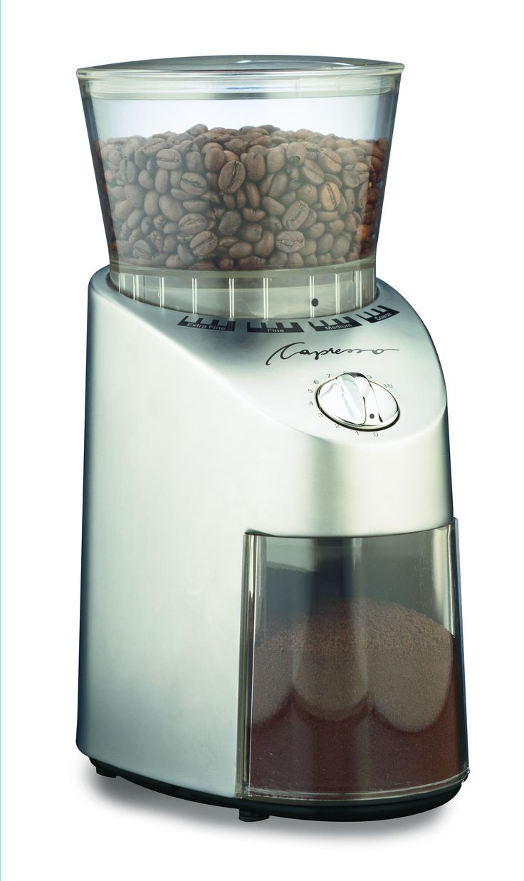Capresso Metal Infinity Conical Burr Coffee Grinder. $109.