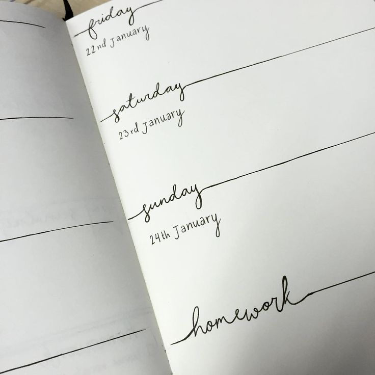 """""""so ive decided to start bullet journaling - I think I quite like this layout for next week #bulletjournal"""""""
