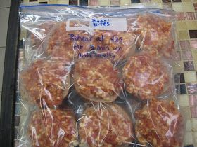 Have you ever tried the Bagel Bites from the freezer section of the store? There are nine little bagels covered in pizza toppings per packag...
