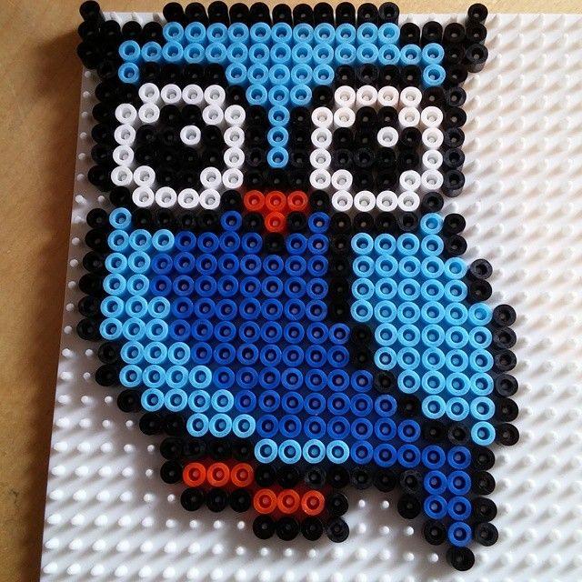 Owl hama beads by anna_maria_angelica