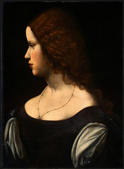 Leonardo da Vinci, Portrait Of A Young Lady http://www.painting-here.com/painting/Portrait_Of_A_Young_Lady_6572.html
