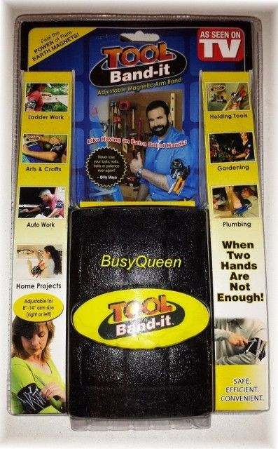 Tool Band It Billy Mays Magnetic Arm Band for holding your Tools  812848010130